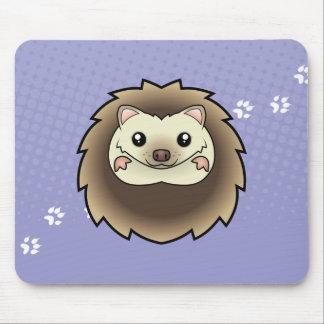 Cartoon Pygmy Hedgehog Mouse Mat