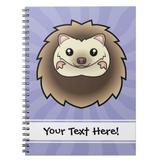 Cartoon Pygmy Hedgehog Notebooks
