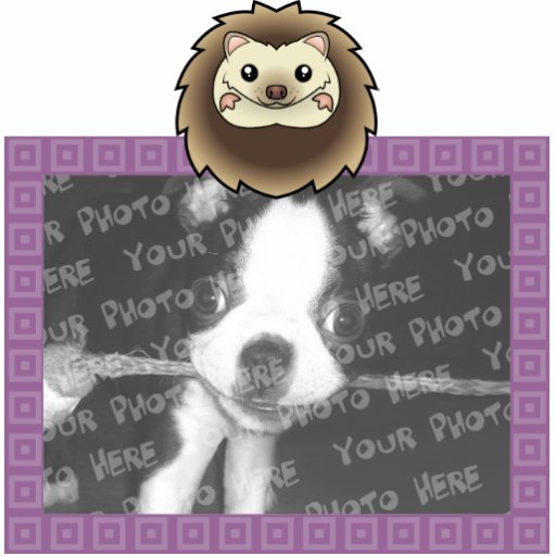 Cartoon Pygmy Hedgehog Photo Sculpture Magnet