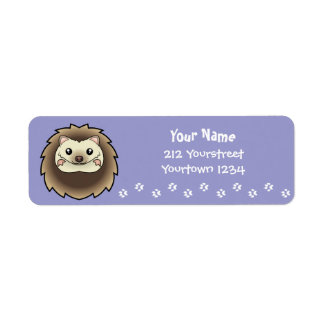 Cartoon Pygmy Hedgehog Return Address Label