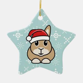 Cartoon Rabbit Christmas Star Ornament