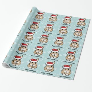 Cartoon Rabbit Christmas Wrapping Paper