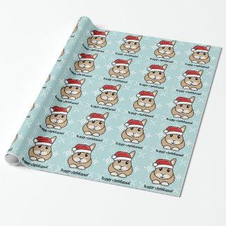 Cartoon Rabbit Christmas Wrapping Paper