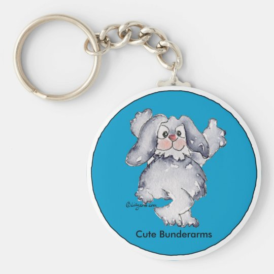 Cartoon Rabbit Cute Personalised Keychains