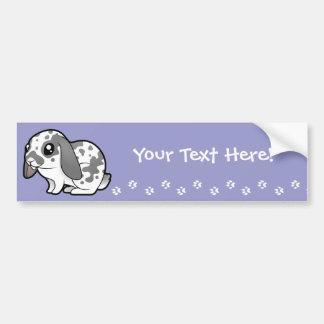 Cartoon Rabbit (floppy ear smooth hair) Bumper Sticker