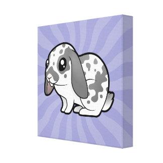 Cartoon Rabbit (floppy ear smooth hair) Canvas Print