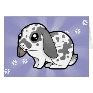 Cartoon Rabbit (floppy ear smooth hair) Greeting Card