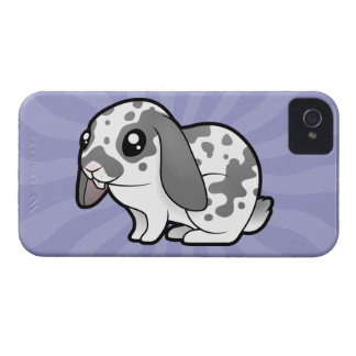 Cartoon Rabbit (floppy ear smooth hair) iPhone 4 Case-Mate Cases