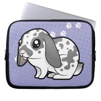 Cartoon Rabbit (floppy ear smooth hair) Laptop Sleeve