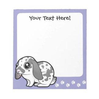Cartoon Rabbit (floppy ear smooth hair) Notepad