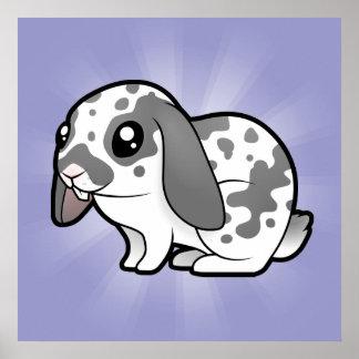 Cartoon Rabbit (floppy ear smooth hair) Poster