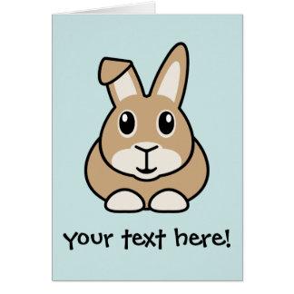 Cartoon Rabbit Greetings Card