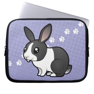 Cartoon Rabbit (uppy ear smooth hair) Laptop Sleeve