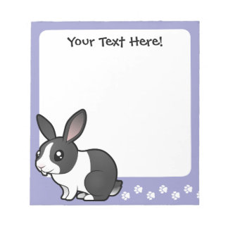 Cartoon Rabbit (uppy ear smooth hair) Notepad
