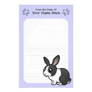 Cartoon Rabbit (uppy ear smooth hair) Stationery