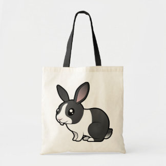 Cartoon Rabbit (uppy ear smooth hair) Tote Bag