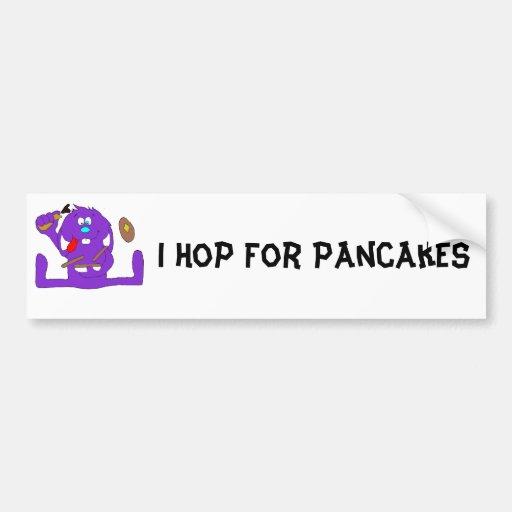 Cartoon Rabbit With Pancakes Bumper Stickers