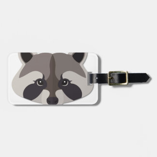 Cartoon Raccoon Head Bag Tag