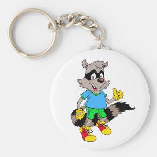 Cartoon Raccoon Key Ring