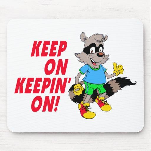 Cartoon Raccoon Mouse Mats