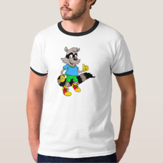 Cartoon Raccoon T-Shirt