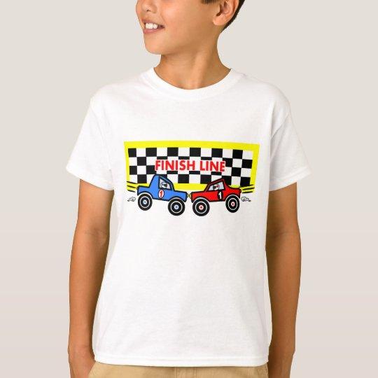 Cartoon Race Cars at Finish Line T-Shirt