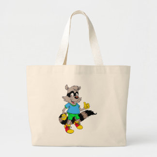 Cartoon Racoon Jumbo Tote Bag