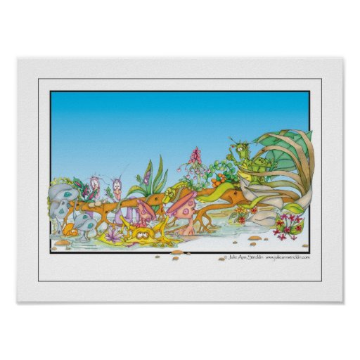 Cartoon Rain Forest creatures Posters
