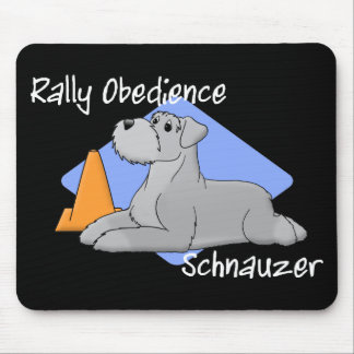 Cartoon Rally Obedience Schnauzer Mouse Pad