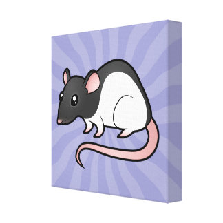 Cartoon Rat Canvas Print