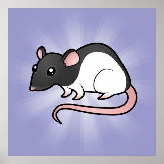 Cartoon Rat Poster