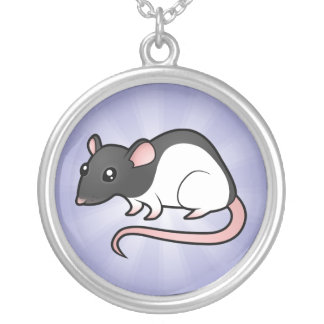 Cartoon Rat Silver Plated Necklace