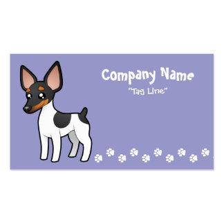 Cartoon Rat Terrier / Toy Fox Terrier Business Card