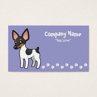 Cartoon Rat Terrier / Toy Fox Terrier Business Card