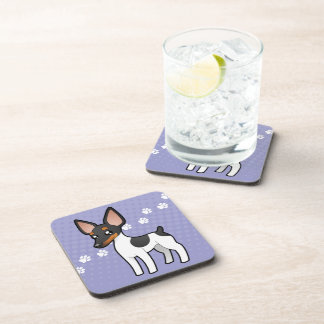 Cartoon Rat Terrier / Toy Fox Terrier Coaster