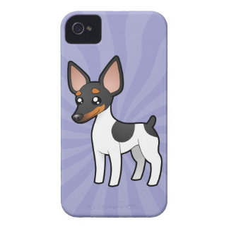 Cartoon Rat Terrier / Toy Fox Terrier iPhone 4 Case-Mate Case