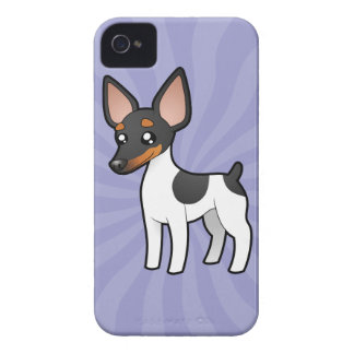 Cartoon Rat Terrier / Toy Fox Terrier iPhone 4 Case-Mate Cases