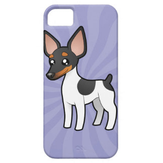 Cartoon Rat Terrier / Toy Fox Terrier iPhone 5 Case