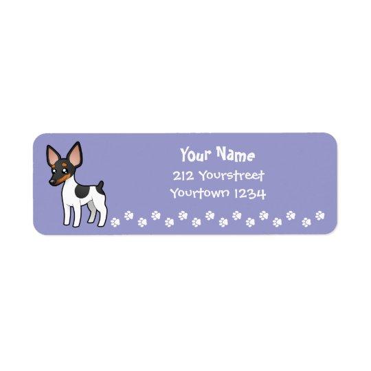Cartoon Rat Terrier / Toy Fox Terrier Return Address Label
