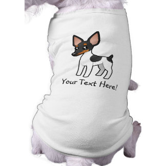 Cartoon Rat Terrier / Toy Fox Terrier Sleeveless Dog Shirt