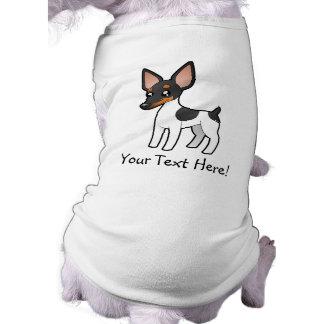 Cartoon Rat Terrier / Toy Fox Terrier Sleeveless Dog Shirt