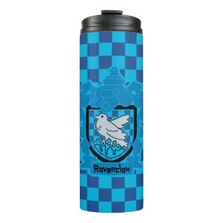 Cartoon Ravenclaw Crest Thermal Tumbler