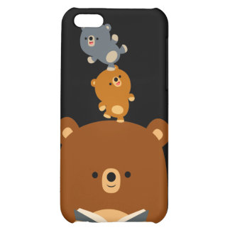 Cartoon Reading Bear & Cubs 4/4s  Cover For iPhone 5C