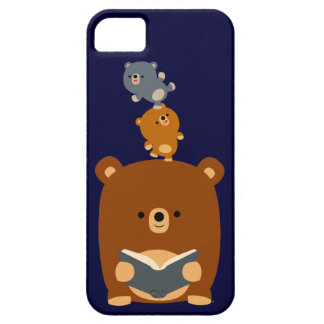 Cartoon Reading Bear & Cubs iPhone 5 Case-Mate iPhone 5 Cover