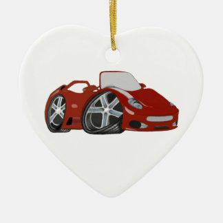Cartoon Red Car Art Christmas Ornament