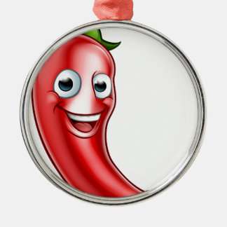 Cartoon Red Chilli Pepper Mascot Christmas Ornament