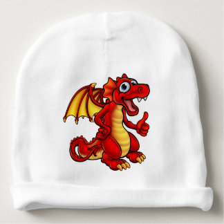Cartoon Red Dragon Baby Beanie