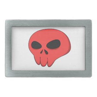 cartoon red skull belt buckles