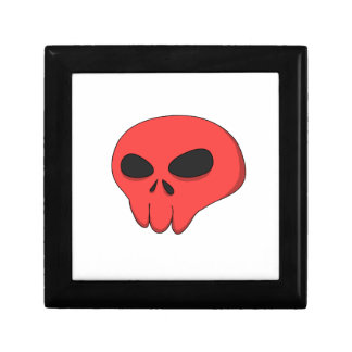 cartoon red skull gift box