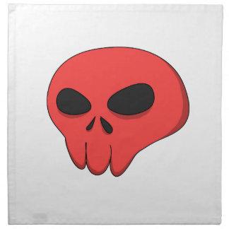 cartoon red skull napkin